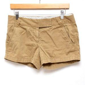 J. Crew Chino Shorts Womens 4 Khaki Tan Brown